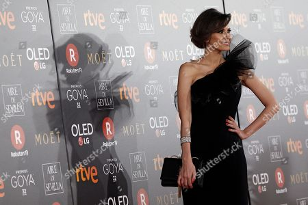 Spanish actress Elena Ballesteros poses for photographers before the Goya Film Awards Ceremony in Madrid, . The Goya Awards are Spain's main national annual film awards