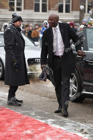 Former NFL player Terrell Davis arrives at the 7th Annual NFL Honors at the Cyrus Northrop Memorial Auditorium, in Minneapolis, Minnesota