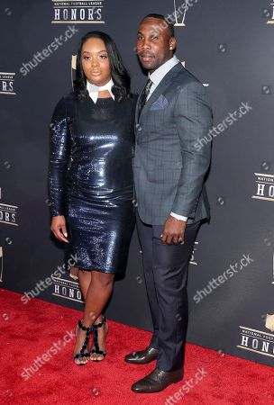 Anquan Boldin, Dionne Boldin. Former NFL Player Anquan Boldin, right, and Dionne Boldin arrives at the 7th Annual NFL Honors at the Cyrus Northrop Memorial Auditorium, in Minneapolis, Minnesota