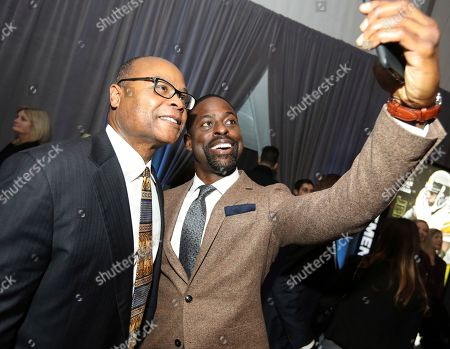 Mike Singletary, Sterling K. Brown. Former NFL player Mike Singletary, left, and Sterling K. Brown attend the 7th Annual NFL Honors at the Cyrus Northrop Memorial Auditorium, in Minneapolis, Minnesota