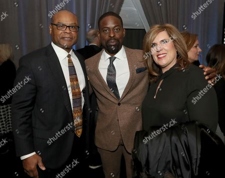 Sterling K. Brown, Mike Singletary, Kim Singletary. Former NFL player Mike Singletary, from left, Sterling K. Brown and Kim Singletary attend the 7th Annual NFL Honors at the Cyrus Northrop Memorial Auditorium, in Minneapolis, Minnesota