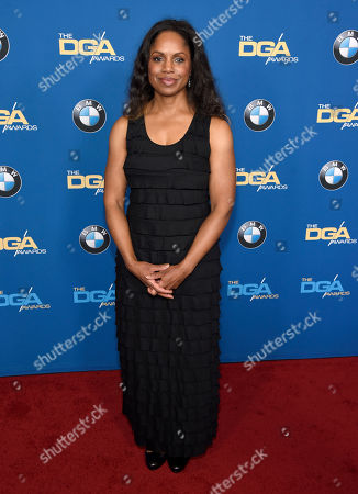 Stock Photo of Alison McDonald arrives at the 70th annual Directors Guild of America Awards at The Beverly Hilton hotel, in Beverly Hills, Calif
