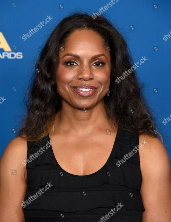 Alison McDonald arrives at the 70th annual Directors Guild of America Awards at The Beverly Hilton hotel, in Beverly Hills, Calif