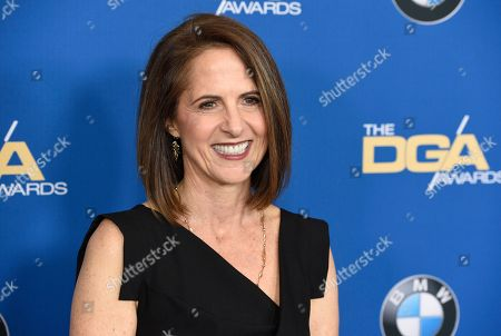 Lynn Novick arrives at the 70th annual Directors Guild of America Awards at The Beverly Hilton hotel, in Beverly Hills, Calif