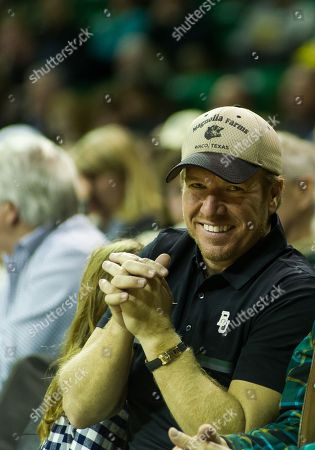 Chip Gaines attending the NCAA Basketball game between the Iowa State Cyclones and Baylor Bears at the Ferrell Center in Waco, Texas