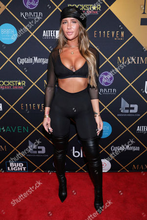 Stock Photo of Singer Niykee Heaton arrives at the Maxim Super Bowl Party at the Maxim Dome, in Minneapolis