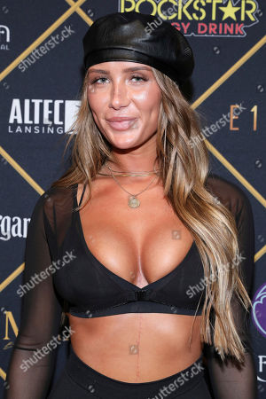 Stock Image of Singer Niykee Heaton arrives at the Maxim Super Bowl Party at the Maxim Dome, in Minneapolis