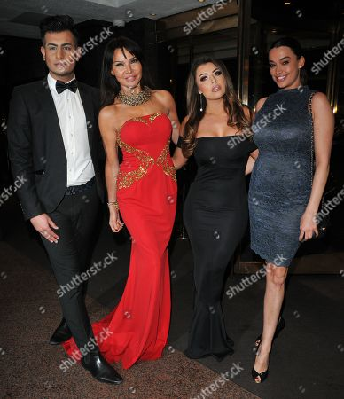 Junaid Ahmed, Lizzie Cundy, Abigail Clarke and guest