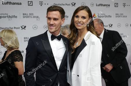 Simon Zoller (FC Koeln) and Laura Wontorra