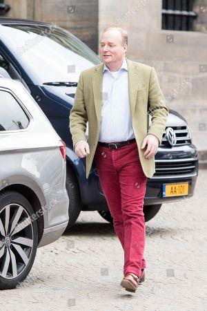Prince Carlos of Bourbon-Parma leaving the Royal Palace