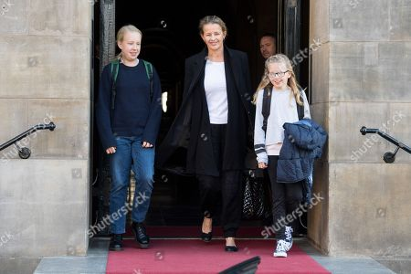 Princess Mabel and daughters Countess Luana and Countess Zaria leaving the Royal Palace