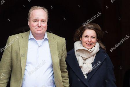 Prince Carlos of Bourbon-Parma and Princess Annemarie leaving the Royal Palace