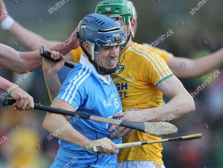 Stock Photo of Antrim vs Dublin. Dublin's Seamus Murphy in action against Antrim's Gerard Walsh