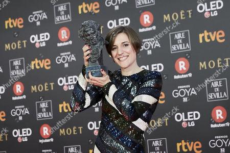 Carla Simon holds the best new director award for the film Verano 1993Carla Simon