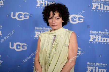Lidia Vitale attends the 2018 Santa Barbara International Film Festival Santa Barbara Award ceremony at the Arlington Theatre, in Santa Barbara, Calif