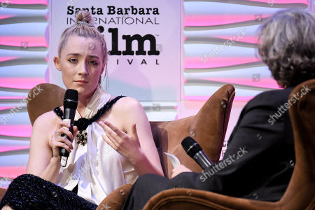 Saoirse Ronan and Anne Thompson