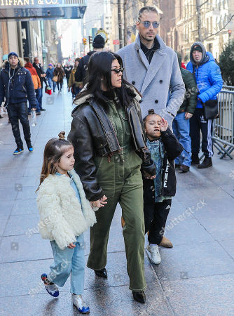 Kourtney Kardashian, Penelope Disick, North West and Simon Huck leave Tiffany & Co