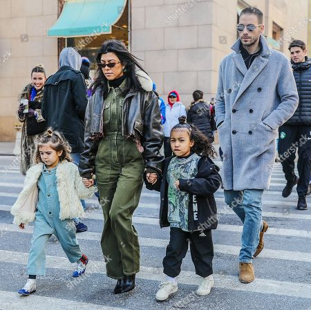 Kourtney Kardashian, Penelope Disick, North West and Simon Huck