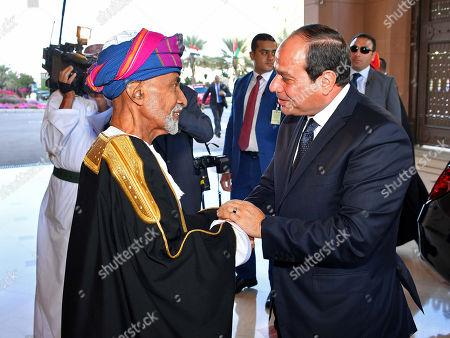 Editorial image of Egyptian President Abdel Fattah al-Sisi visit to Oman - 04 Feb 2018