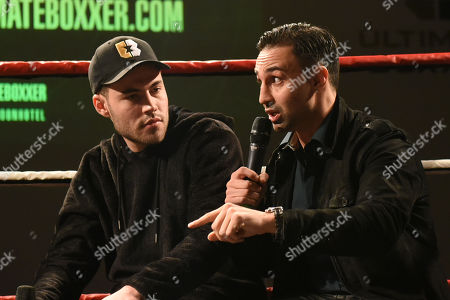 Paulie Malignaggi speaks during the Ultimate Boxxer Launch at the ME London Hotel on 5th February 2018
