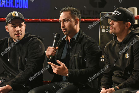 Stock Image of Paulie Malignaggi speaks during the Ultimate Boxxer Launch at the ME London Hotel on 5th February 2018