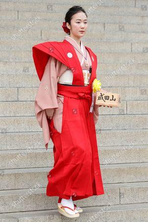 Editorial image of Setsubun festival at Naritasan Shinshoji Temple, Chiba, Japan - 03 Feb 2018