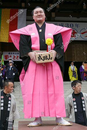 Stock Photo of Sumo wrestler Hakuho Sho takes part in the Setsubun festival at Naritasan Shinshoji Temple