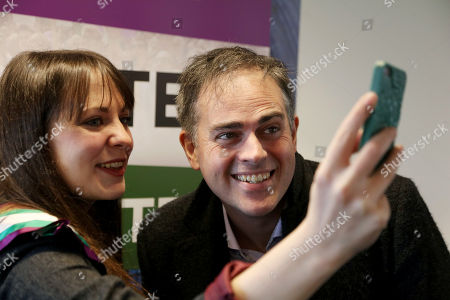 Amelia Womack, Jonathan Bartley selfie