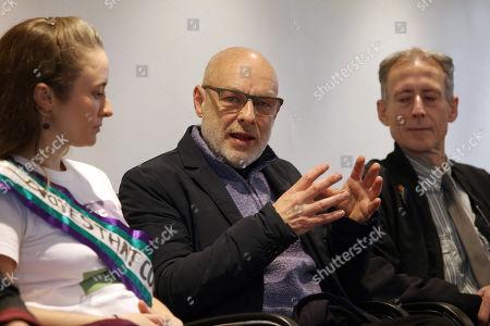 Klina Jordan, Brian Eno, Peter Tatchell