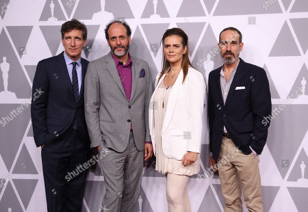Peter Spears, Luca Guadagnino, Emilie Georges and Marco Morabito