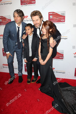 Sean Baker, Christopher Rivera, Willem Dafoe and Valeria Cotto