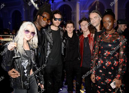 Alice Chater, Bradley Theodore, Marc Jacques Burton, Tom Holland, Harrison Osterfield and Jason Mcnab with guest