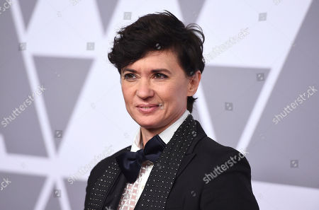Kimberly Peirce arrives at the 90th Academy Awards Nominees Luncheon at The Beverly Hilton hotel, in Beverly Hills, Calif
