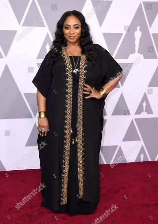 Taura Stinson arrives at the 90th Academy Awards Nominees Luncheon at The Beverly Hilton hotel, in Beverly Hills, Calif