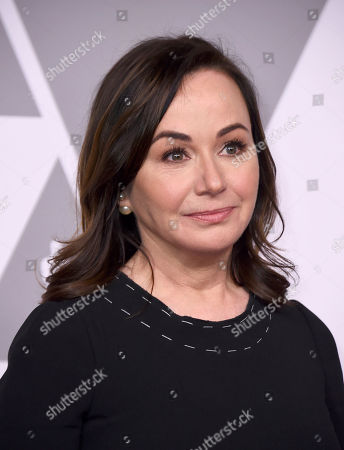 Kristie Macosko Krieger arrives at the 90th Academy Awards Nominees Luncheon at The Beverly Hilton hotel, in Beverly Hills, Calif