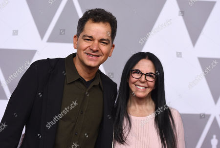 Carlos Saldanha, Isabella Scarpa Saldanha. Carlos Saldanha, left, and Isabella Scarpa Saldanha arrive at the 90th Academy Awards Nominees Luncheon at The Beverly Hilton hotel, in Beverly Hills, Calif