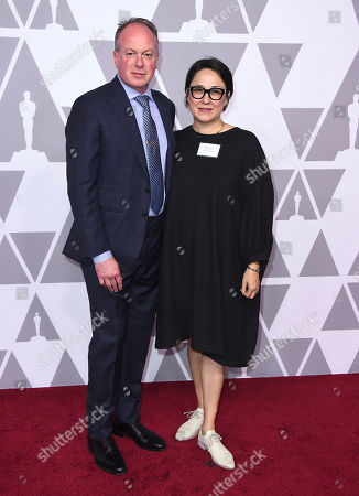 Tom McGrath, Ramsey Naito. Tom McGrath, left, and Ramsey Naito arrive at the 90th Academy Awards Nominees Luncheon at The Beverly Hilton hotel, in Beverly Hills, Calif