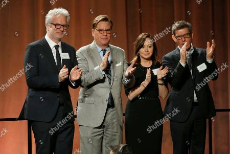 Ben Morris, Christopher Nolan, Kristie Macosko Krieger, Jeffrey A. Melvin. Ben Morris, from left, Christopher Nolan, Kristie Macosko Krieger and Jeffrey A. Melvin attend the 90th Academy Awards Nominees Luncheon at The Beverly Hilton hotel, in Beverly Hills, Calif