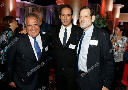Jim Gianopulos, Alexandre Desplat, Howard Rosenman. Jim Gianopulos, from left, Alexandre Desplat, and Howard Rosenman attend the 90th Academy Awards Nominees Luncheon at The Beverly Hilton hotel, in Beverly Hills, Calif