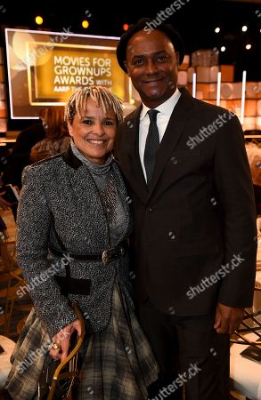 Shari Belafonte, Herbert Peck. Shari Belafonte, left, and Herbert Peck attend AARP The Magazine's 17th Annual Movies for Grownups Awards at Beverly Wilshire Hotel on in Beverly Hills, Calif