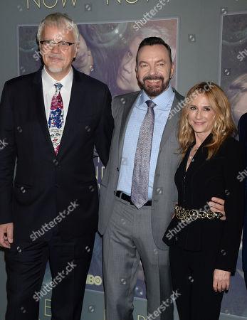 Tim Robbins, Alan Ball and Holly Hunter