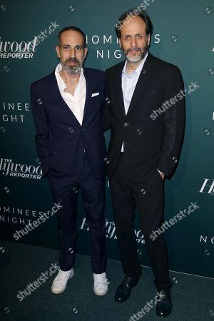 Stock Photo of Producer Marco Morabito, left, and Director Luca Guadagnino