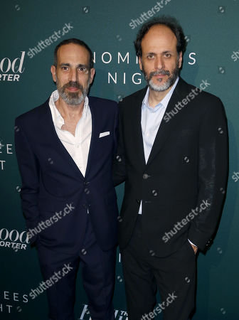 Stock Image of Producer Marco Morabito, left, and Director Luca Guadagnino