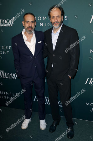 Stock Picture of Producer Marco Morabito, left, and Director Luca Guadagnino
