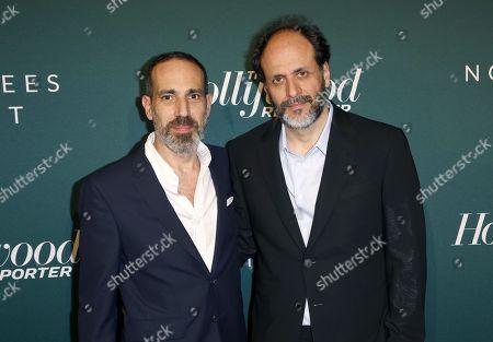 Producer Marco Morabito, left, and Director Luca Guadagnino