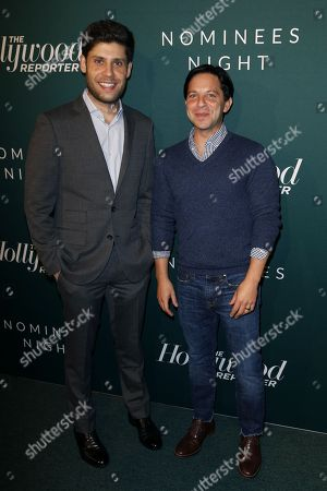 Michael H. Weber, Scott Neustadter. Michael H. Weber, left, and Scott Neustadter arrive at the The Hollywood Reporter's 2018 Academy Awards Nominees Night at the Cut Beverly Hills, in Beverly Hills, Calif
