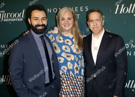 Adrian Molina, Darla K. Anderson, Lee Unkrich. Adrian Molina, from left, Darla K. Anderson and Lee Unkrich arrive at the The Hollywood Reporter's 2018 Academy Awards Nominees Night at the Cut Beverly Hills, in Beverly Hills, Calif