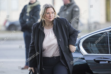 Stock Photo of Anke Rehlinger of Social Democratic Party (SPD), Deputy Prime Minister and Minister for Economic Affairs, Labor, Energy and Transport in Saarland, arrives for coalition talks at the headquarters of the Christian Democratic Union (CDU), the Konrad-Adenauer-Haus, in Berlin, Germany, 06 February 2018. The leaders of CDU, CSU and SPD meet for coalition talks to form a new German government.