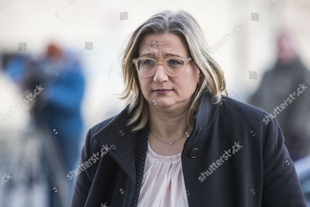 Stock Image of Anke Rehlinger of Social Democratic Party (SPD), Deputy Prime Minister and Minister for Economic Affairs, Labor, Energy and Transport in Saarland, arrives for coalition talks at the headquarters of the Christian Democratic Union (CDU), the Konrad-Adenauer-Haus, in Berlin, Germany, 06 February 2018. The leaders of CDU, CSU and SPD meet for coalition talks to form a new German government.