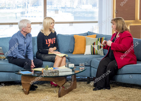 Phillip Schofield and Holly Willoughby with Sharon Hodgson